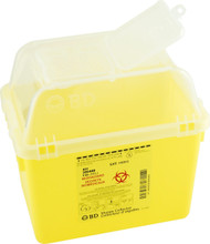 BD 300440 Collector SHARPS NESTABLE 7.6L (6.7qt) YELLOW/CLEAR FUNNEL TOP P14