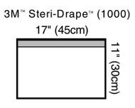 3M-1000 Steri-Drape™ Small Towel Drape 45 X 30CM TOWEL DRAPE WITH ADHESIVE STRIP SMALL, CLEAR PLASTIC, STERILE BX/10