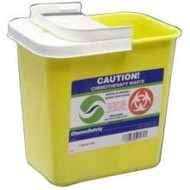 "ACM 8702TY STACKABLE SHARPS CONTAINERS SMALL, YELLOW, HORIZONTAL DROP LID, 1QT, 3.5"" W X 7"" H X 3.5"" D"