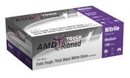 AMD 9950-C BLACK NITRILE GLOVES, POWDER-FREE, MEDIUM, INDUSTRIAL BX/100