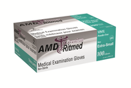 AMD 9993-D VINYL GLOVES, POWDERED, X-LARGE (CS/10) BX/100 (AMD 9993-D)