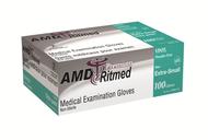 AMD 9994-AX POWDER-FREE VINYL GLOVES, X-SMALL (CS/10) BX/100