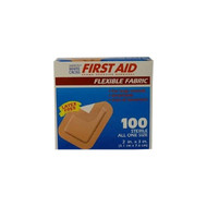 """First Aid Flexible Adhesive Bandages - Flexible Patch, 2"""" x 3"""" Adhesive Bandage, 100/bx (1617033)"""