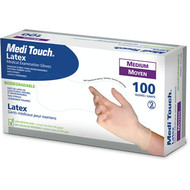 AMG 011-225 BX/100 LATEX EXAM GLOVES, MEDIUM