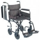 "AMG 700-846 AIRGO COMFORT-PLUS LIGHTWEIGHT TRANSPORT CHAIR, W/ DETACHABLE FLIP BACK ARM REST, 19"" SEAT"