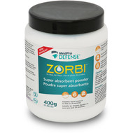 764-105 ZORBI ABSORBING POWDER FOR BODILY DISCHARGE AND FLUIDS, 400 G JAR (764-105)