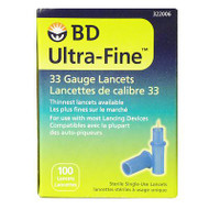 BD 322006 Ultra Fine LATITUDE LANCET, 33 Gauge BX/100