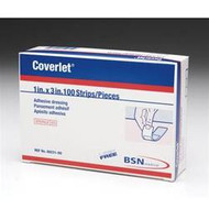 BSN-0023100 BX/100 COVERLET FABRIC ADHESIVE STRIPS 2.5CM X 7.6CM (BSN-0023100)