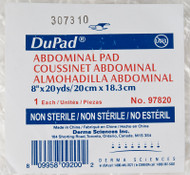 "DUP 97820 PK/1 DUPAD ABDOMINAL PAD 8"" x 20YDS, NON-STERILE"