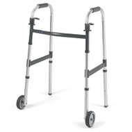 """Invacare 62915F I-CLASS DUAL-RELEASE PADDLE FOLDING WALKER, STYLE ADULT W/ 5"""" WHEELS"""