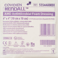 """Covidien 55544AMDX AMD ANTIMICROBIAL FOAM DRESSING, 4""""x4"""" BX/10 (Case of 5)"""
