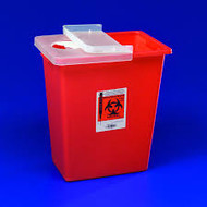 Kendall 8980 (CS10) LARGE VOLUME SHARPS CONTAINER 1/ HINGED LID, 30L (8GAL)