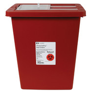 Kendall 8980S (CS/10) RECYCLED SHARPS CONTAINER RED, SLIDING LID, 30L (8GAL)
