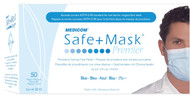 Medicom 2015 SafeMask® Premier Earloop Face Mask, BLUE, BX/50, CS/10 BX