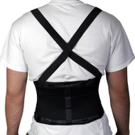 "Medline NON11351M STANDARD BACK SUPPORT W/ SUSPENDERS, MEDIUM 30""-34"""