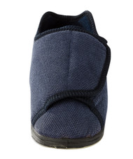 Silvert's 101000701 Womens Extra Extra Wide Width Adaptive Slippers , Size 5, NAVY