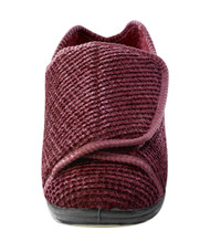 Silvert's 101000302 Womens Extra Extra Wide Width Adaptive Slippers , Size 6, BURGUNDY