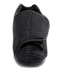 Silvert's 101000402 Womens Extra Extra Wide Width Adaptive Slippers , Size 6, BLACK