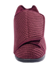 Silvert's 101000104 Womens Extra Extra Wide Width Adaptive Slippers , Size 8, WINE