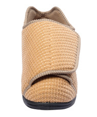 Silvert's 101000808 Womens Extra Extra Wide Width Adaptive Slippers , Size 12, BEIGE