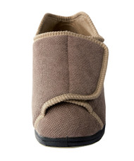 Silvert's 101000608 Womens Extra Extra Wide Width Adaptive Slippers , Size 12, TAUPE