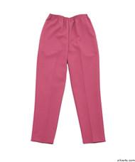 Silvert's 130900203 Womens Elastic Waist Polyester Pants 2 Pockets , Size 12, FRESH PINK