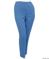 Silvert's 130901304 Womens Elastic Waist Polyester Pants 2 Pockets , Size 14, COOL BLUE