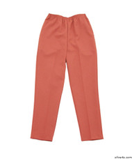 Silvert's 130900604 Womens Elastic Waist Polyester Pants 2 Pockets , Size 14, SEA CORAL