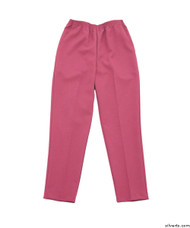 Silvert's 130900206 Womens Elastic Waist Polyester Pants 2 Pockets , Size 18, FRESH PINK