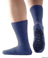 Silvert's 191400301 Hospital, Non Skid / Anti Slip , Fuzzy Gripper Socks , Size Regular, NAVY