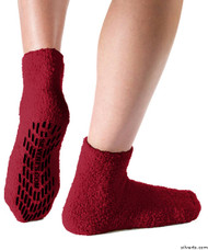 Silvert's 191400901 Hospital, Non Skid / Anti Slip , Fuzzy Gripper Socks , Size Regular, RED