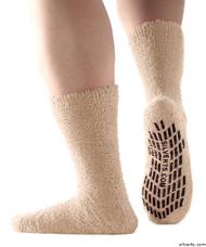 Silvert's 191400201 Hospital, Non Skid / Anti Slip , Fuzzy Gripper Socks , Size Regular, BEIGE