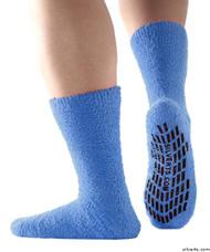 Silvert's 191410601 Hospital, Non Skid / Anti Slip , Fuzzy Gripper Socks , Size X-Large, BLUE