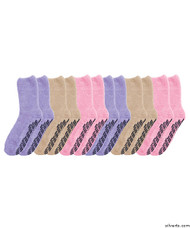 Silvert's 191510401 Hospital Socks Non Skid / Anti Slip Grip Socks For Women , Size X-Large, PASTEL PACK