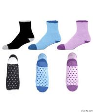 Silvert's 192100101 Non Skid / Slip Grip Hospital Socks For Adult Women , Size ONE, PASTEL PACK