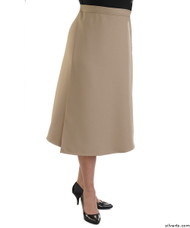 Silvert's 230101004 Womens Adaptive Arthritis Wrap Around Skirt With Adjustable Closure, Size Large, TAUPE