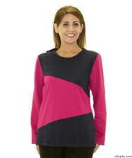 Silvert's 231900701 Adaptive Tops For Women , Size Small, FUSCHIA