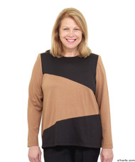 Silvert's 231900503 Adaptive Tops For Women , Size Large, CAMEL