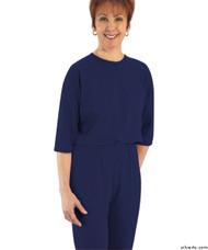 Silvert's 233100202 Womens Adaptive Alzheimer's Anti Strip Jumpsuits , Size Small, NAVY