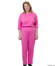 Silvert's 233100104 Womens Adaptive Alzheimer's Anti Strip Jumpsuits , Size Large, FUSCHIA