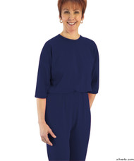Silvert's 233100205 Womens Adaptive Alzheimer's Anti Strip Jumpsuits , Size X-Large, NAVY
