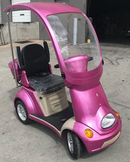 E-Wheels EW-54 4-Wheel Power Scooter/ Mini Golf Cart, Pink - Shipping included