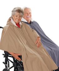 Silvert's 270000401 Mens Winter Wheelchair Cape & Womens Winter Warm Wheelchair Cape Clothing , Size ONE, BEIGE