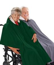 Silvert's 270000301 Mens Winter Wheelchair Cape & Womens Winter Warm Wheelchair Cape Clothing , Size ONE, HUNTER