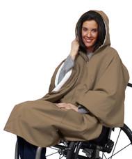 Silvert's 270030601 Warm Winter Wheelchair Cape - Taupe