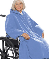 Silvert's 271001001 Mens Wheelchair Cape & Womens Adaptive Wheelchair Cape Clothing , Size ONE, BABY BLUE