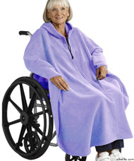 Silvert's 271001601 Mens Wheelchair Cape & Womens Adaptive Wheelchair Cape Clothing , Size ONE, PERIWINKLE