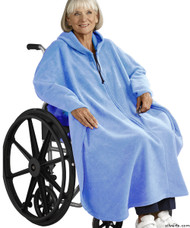 Silvert's 271001501 Mens Wheelchair Cape & Womens Adaptive Wheelchair Cape Clothing , Size ONE, MID BLUE