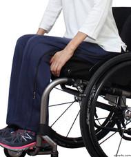 Silvert's 450130102 Womens Zipper Pants, 2 Way Zippers & VELCRO Closures, Size Medium, NAVY
