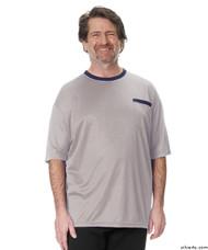 Silvert's 505400102 Adaptive Tshirt Top For Men , Size Medium, GREY